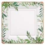 Love and Leaves 7 Inch Square Metallic Plates