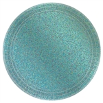 "Round Prismatic Plates, 7""- Robin's Egg Blue"