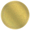 "Round Prismatic Plates, 7"" - Gold"