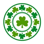 Lucky Shamrocks 9in Round Plates