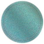 "Round Prismatic Plates, 9"" - Robin's Egg Blue"