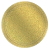 "Round Prismatic Plates, 9"" - Gold"