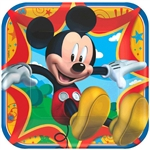 Mickey Mouse 9 inch Square Dinner Plates