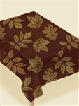 Fall Leaf Elegance Flannel Backed Tablecover