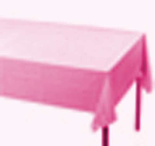 2 x Plastic Retangle Tablecloth Table Cover 137cm x 274cm Pink Brand New