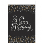 SPARKLING CELEBRATION BIRHTDAY TABLECOVER