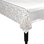 Silver Anniversary / Wedding Table Cover