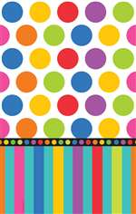 BIRTHDAY DOTS TABLECOVER