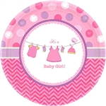 Shower with Love Girl 10in Plates