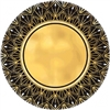 Glitz And Glam Art Deco Metallic 10 Inch Plates