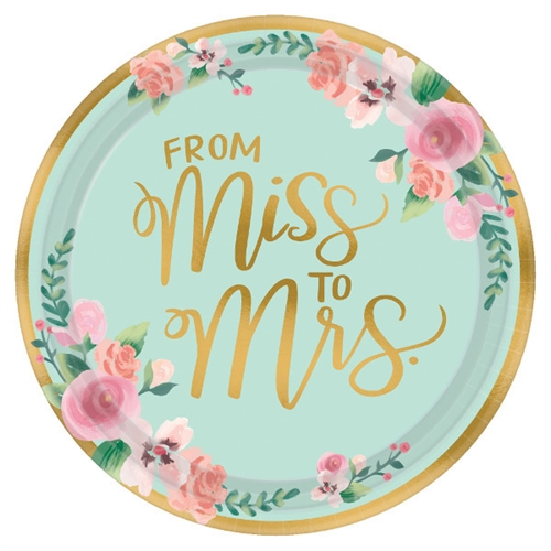 Mint To Be 105 Inch Metallic Paper Plates