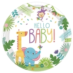"Fisher Priceâ""¢ Hello Baby Round Plates, 10 1/2"""