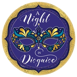A Night In Disguise Metallic Round Plates, 10 1/2""