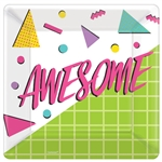 "AWESOME PARTY 10"" SQUARE PLATES"