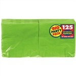 Kiwi Green Beverage Napkins Big Party Pack 125 Count