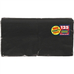 BLACK NAPKINS - LUNCHEON - 125 BULK COUNT