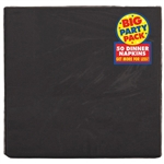 BLACK 50CT DINNER NAPKINS