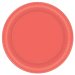 Pantone Living Coral Paper 8.5 Inch Plates