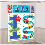 All Aboard Boy Scene Setters Wall Decorating Kit