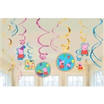 "Peppa Pigâ""¢ Value Pack Foil Swirl Decorations"