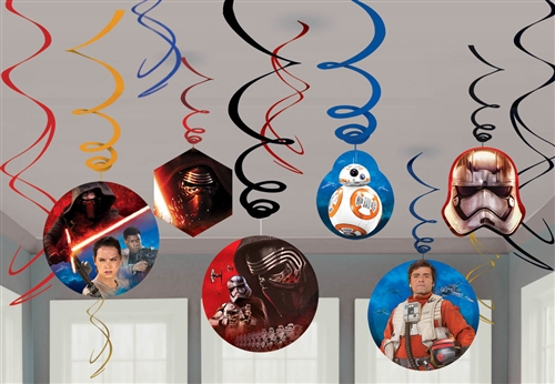 star wars vii the force awakens swirls decorations - Star Wars Decorations