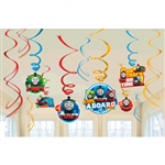 Thomas The Tank All Aboard Spirals with Cutouts Party Decorations