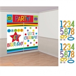 RAINBOW ADD ANY AGE DEC WALL KIT