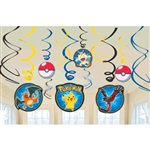 Pokemon Pikachu & Friends Swirl Decorations