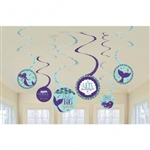Mermaid Wishes Hanging Swirls Decorations