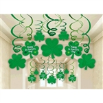 St. Patrick's Day Foil Swirls Mega Pack