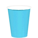 CARRIBEAN BLUE 9OZ PAPER CUPS