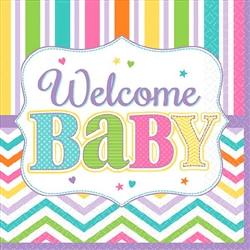 Welcome Baby Bev Napkins