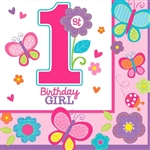 Sweet Birthday Girl Luncheon Napkins