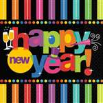 BRIGHT NEW YEAR LUNCHEON NAPKIN BIG PACK
