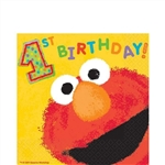 Elmo's 1st Birthday Luncheon Napkins