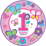 Sweet Birthday Girl Round Plates (10 1/2 in)