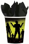 Beware Zombies 9 Oz Cups