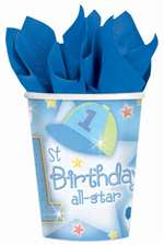 1ST BDAY ALL STAR 9OZ CUPS