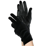 Short Black Gloves - Women's