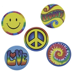 1960's Hippie Buttons
