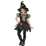 Pumpkin Patch Witch Med(8-10) Girls Cost