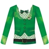 St. Patrick's Bowtie Long Sleeved Shirt Adult SM/MD