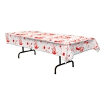 Hand Print Blood Splatter Table Cover