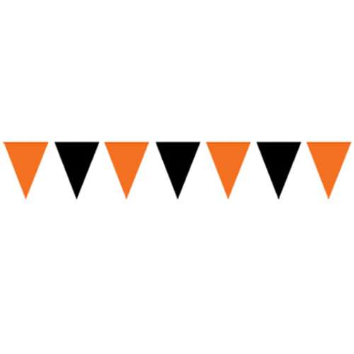 Orange And Black Pennant Banner Bartz S Party Stores
