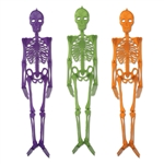 Purple, Green, or Orange Skeleton Decoration