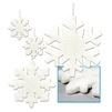 Snowflakes Fluffy Assorted Cutouts