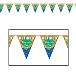 Retired The Fun Begins Pennant Banner