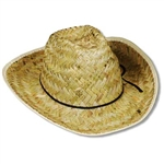 Hi Crown Western Hat with Shoelace Band