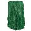 RAFFIA HULA SKIRT - ADULT SIZE - GREEN