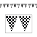 Checker Flag Pennant Banner